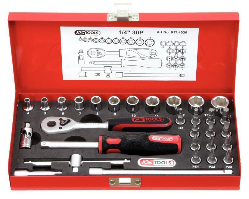 11mm KS Tools 917.1411 1//4 CLASSIC Sechskant-Stecknuss