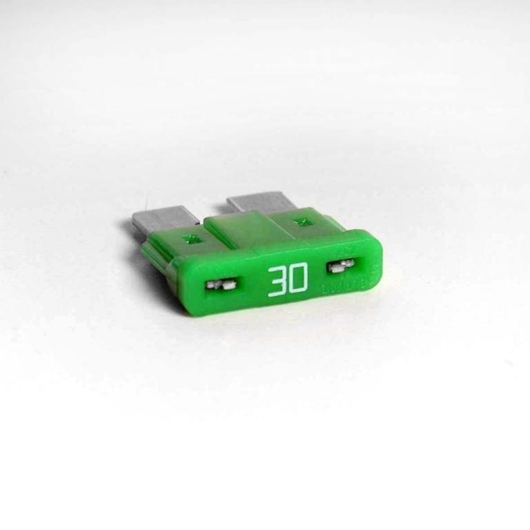 Flachstecksicherung 30A grün 32V