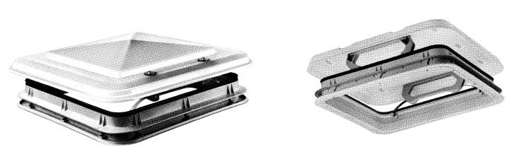 happich dachluke 500x500mm mit acrylglashaube wei f r. Black Bedroom Furniture Sets. Home Design Ideas