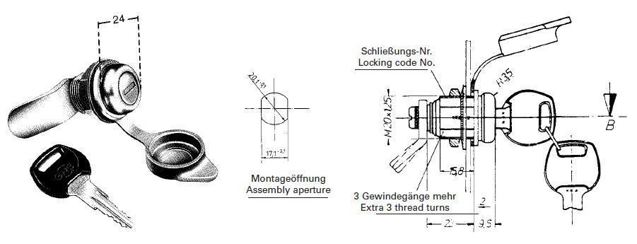 happich schliesszylinder ps verschieden schlie end mit 2 schl ssel autoteile walter schork gmbh. Black Bedroom Furniture Sets. Home Design Ideas