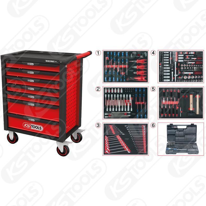 ks tools racingline werkstattwagen 7 mit 511 premium. Black Bedroom Furniture Sets. Home Design Ideas