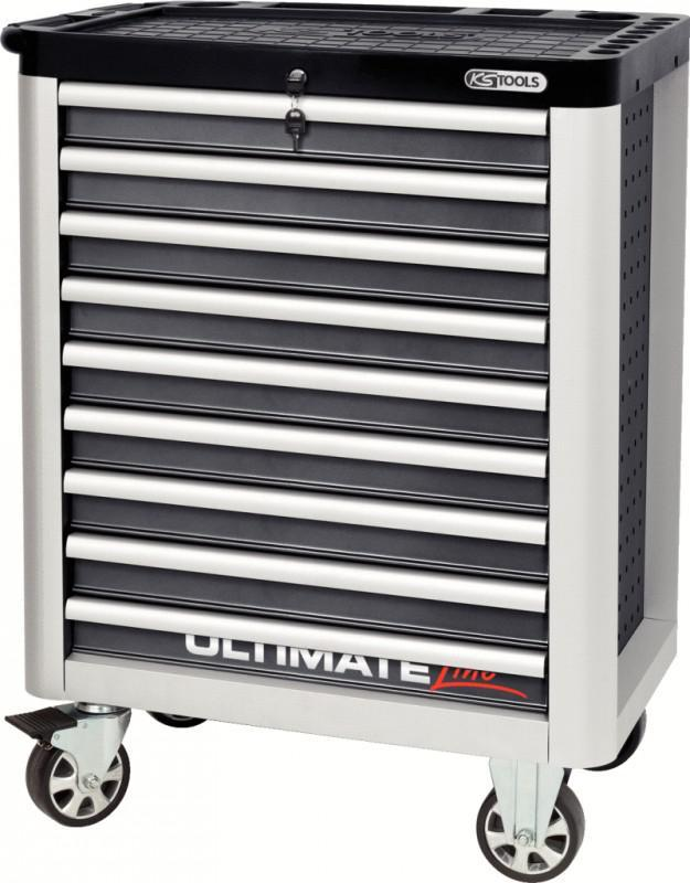 ks tools ultimateline werkstattwagen mit 9 schubladen grau. Black Bedroom Furniture Sets. Home Design Ideas