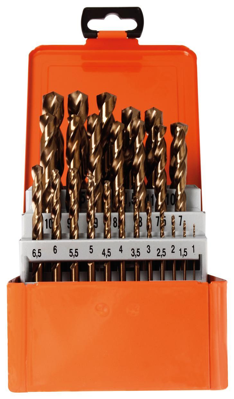 2,5mm KS Tools HSS-G Co 5 Spiralbohrer 10er Pack