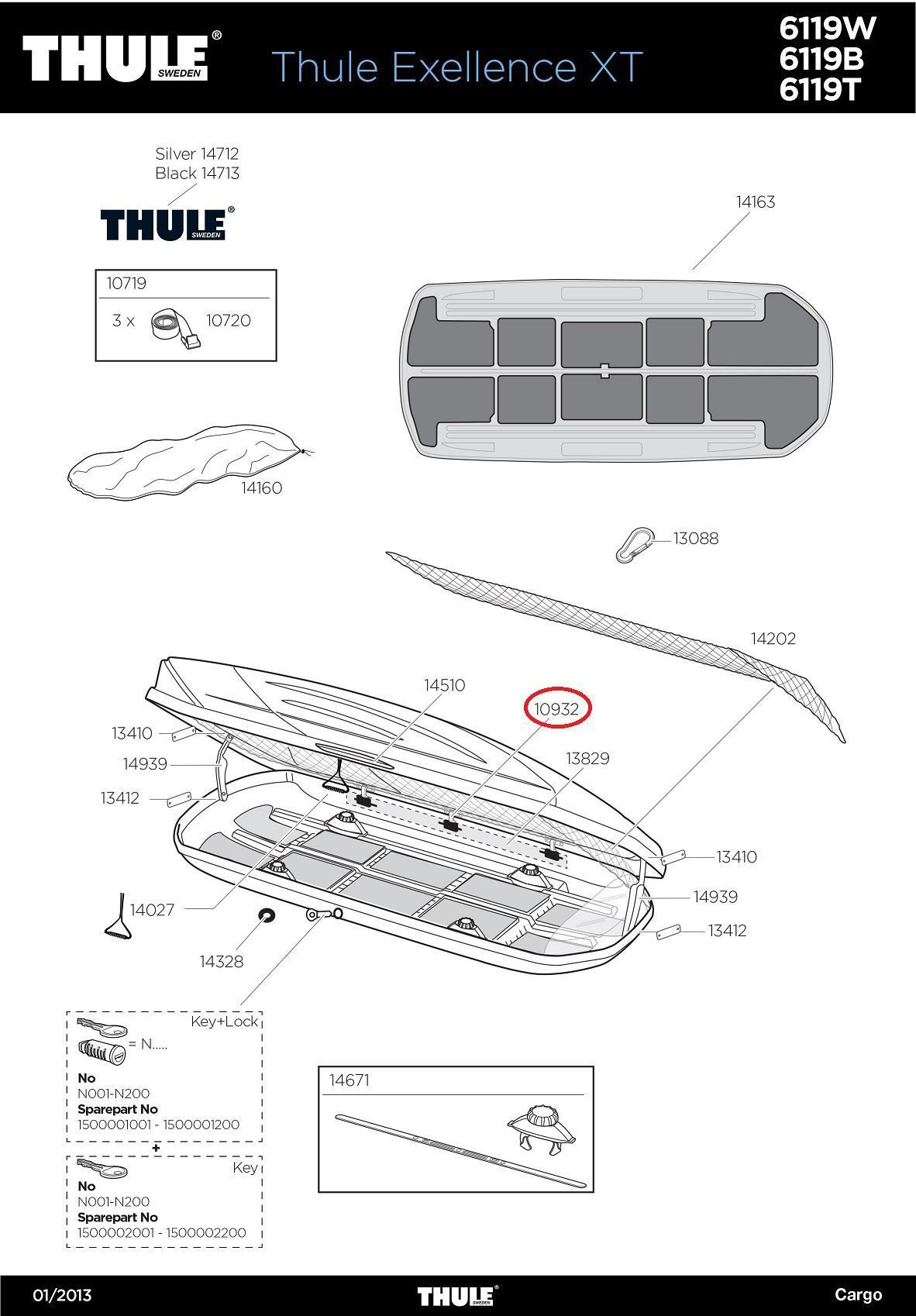 thule schlie haken r l komplett f dachbox motion pacific. Black Bedroom Furniture Sets. Home Design Ideas