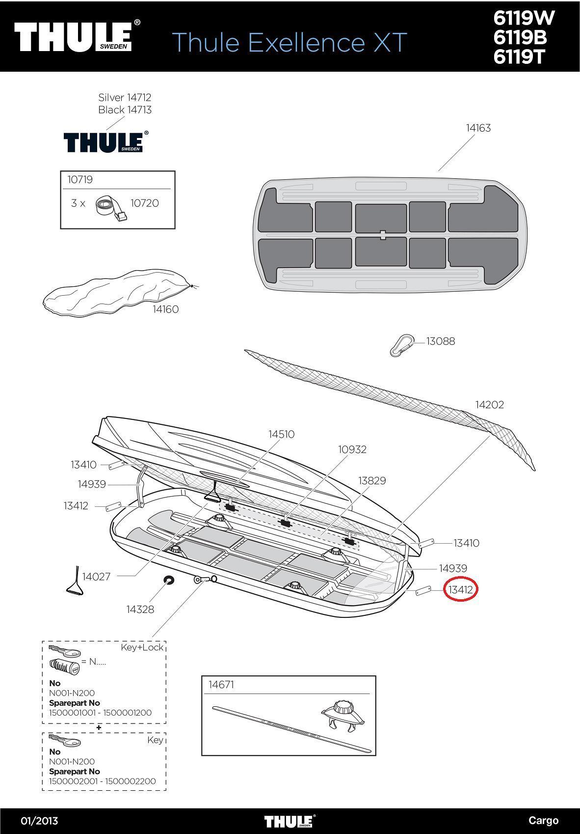 thule deckelst tze boden f r dachbox exellence motion. Black Bedroom Furniture Sets. Home Design Ideas