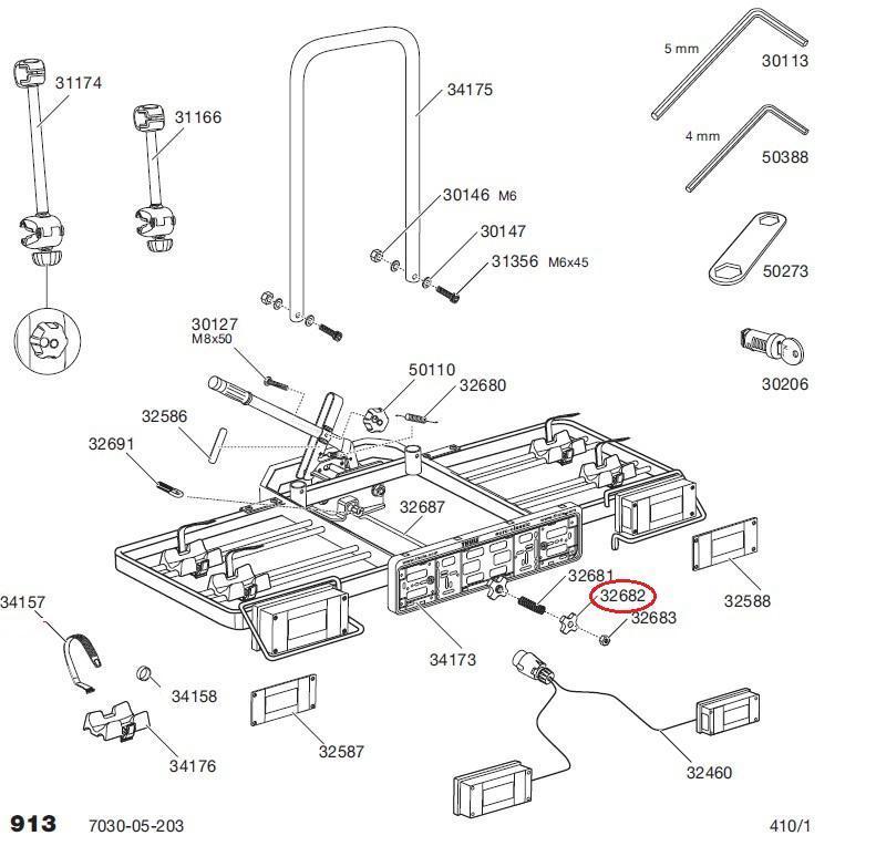 thule sterngriff abklappschraube 913 914 f r. Black Bedroom Furniture Sets. Home Design Ideas