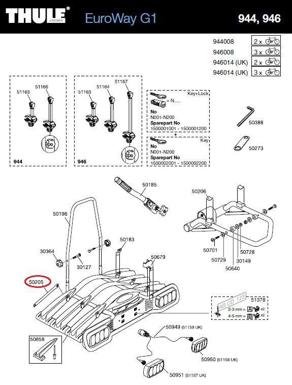 thule felgenhalteband f r 944 946 euroway g1. Black Bedroom Furniture Sets. Home Design Ideas