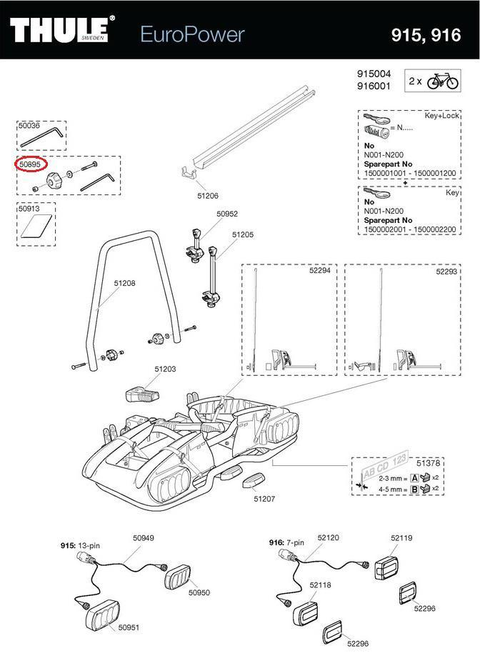 thule montagebeutel ecc 904 f r europower euroclassic. Black Bedroom Furniture Sets. Home Design Ideas