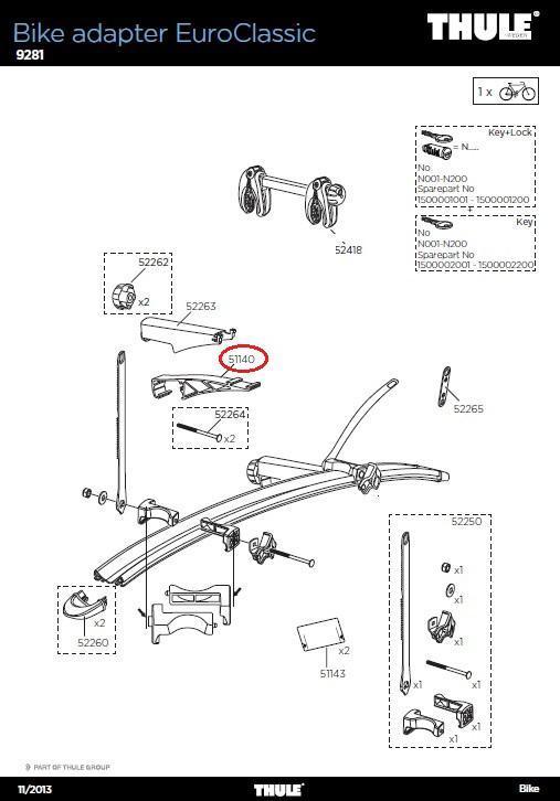 thule montageklammer 9281 f r 3 4 rad adapter erweiterung. Black Bedroom Furniture Sets. Home Design Ideas
