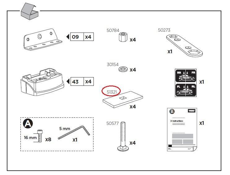 thule unterleggummi 26x50x3mm f r xt monatgekit z b 3033. Black Bedroom Furniture Sets. Home Design Ideas
