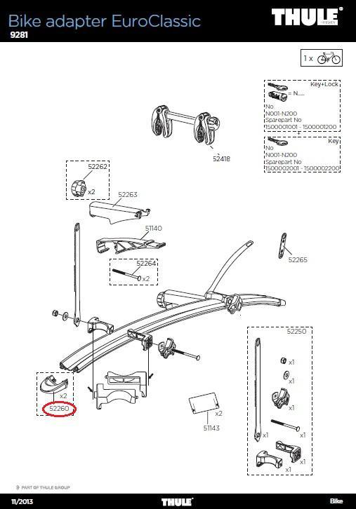 thule endst ck 2stk 9281 f r 3 4 rad adapter. Black Bedroom Furniture Sets. Home Design Ideas