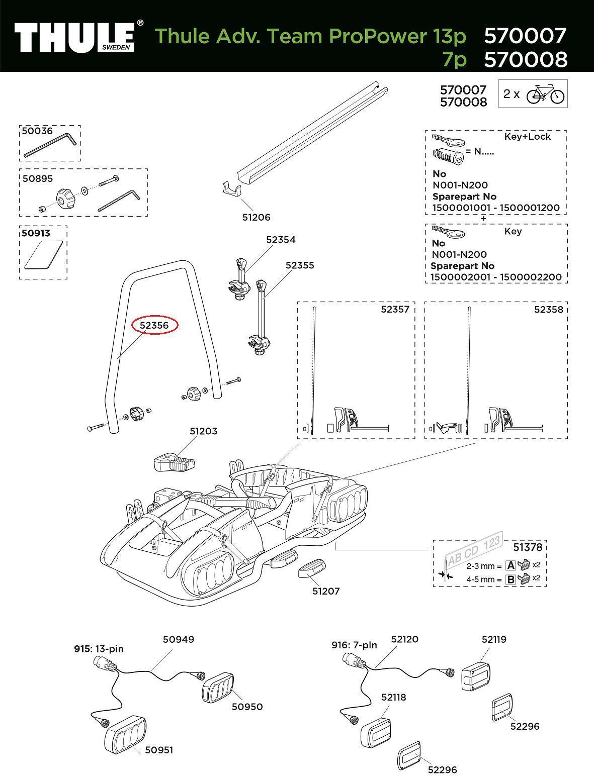 thule rahmenhalteb gel 570007 smu propower adventure. Black Bedroom Furniture Sets. Home Design Ideas