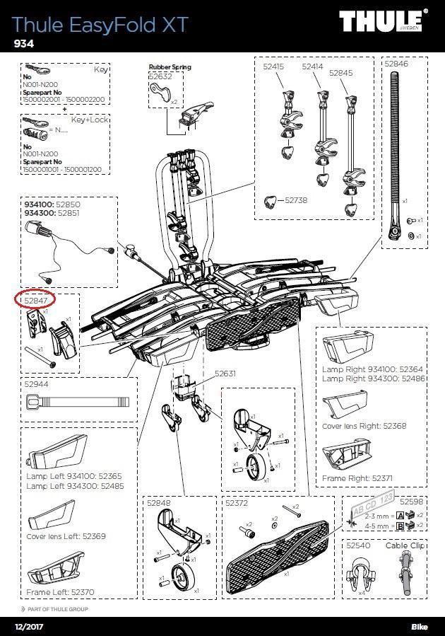 Anbauteil rechts 920//921 für Euroway Heckträger Spannband M