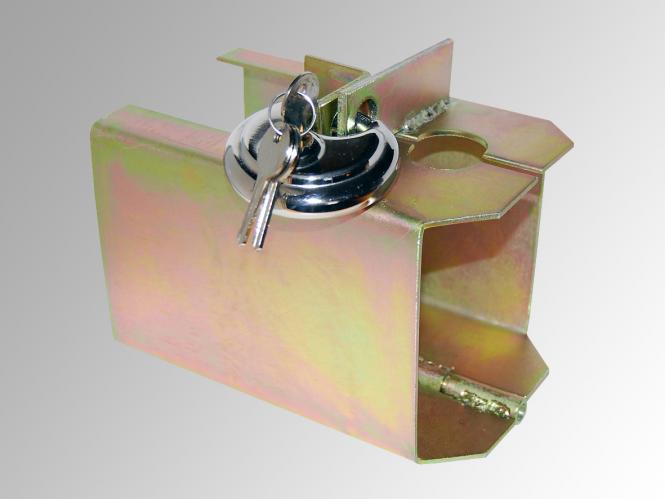 las kastensicherung mit schloss diebstahlschutz f r. Black Bedroom Furniture Sets. Home Design Ideas