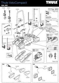 Kennzeichenhalter mit Einrasthaken für F Serie Kupplungsträge Fahrradträger