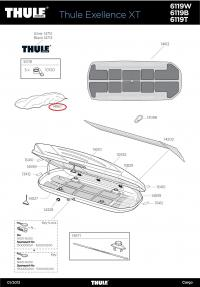 Original Thule Knebelmutter M6 für 586 Dachbox