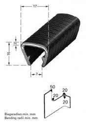 happich flexibler kantenschutz 9 12mm pvc schwarz m stahlger stband autoteile walter schork gmbh. Black Bedroom Furniture Sets. Home Design Ideas