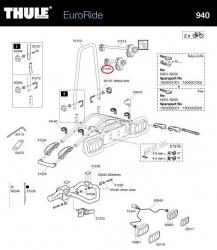 Thule Haltearm 51216 für 1 Rad Heckträger 940 EuroRide