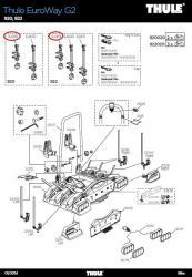 thule rms haltearm 2 rad bikearm 920 922 euroway g2. Black Bedroom Furniture Sets. Home Design Ideas