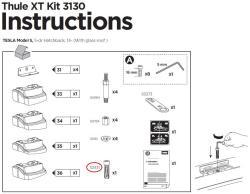 thule befestigungsschraube kit 3130 tesla model s. Black Bedroom Furniture Sets. Home Design Ideas