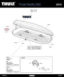 thule deckeld mpfer schwach f r dachbox touring pacific. Black Bedroom Furniture Sets. Home Design Ideas