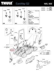 Thule Reifenhalter 920/921 für Euroway Heckträger | Autoteile Walter ...