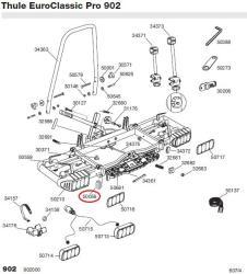 thule ovale endkappe f r euroclassic pro 902 autoteile. Black Bedroom Furniture Sets. Home Design Ideas