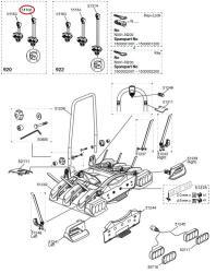 thule haltearm 2 rad abschlie bar f r euroway g2 920. Black Bedroom Furniture Sets. Home Design Ideas