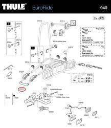 thule endkappe f r 940 941 euroride fahrradhecktr ger. Black Bedroom Furniture Sets. Home Design Ideas